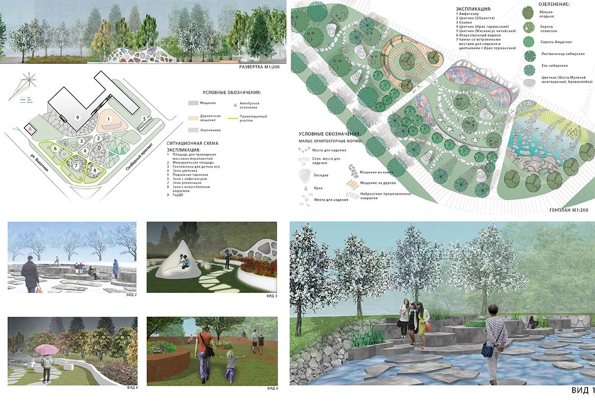 Студенты СФУ предложили новые варианты озеленения города  диплом 3 степени проект малого сада