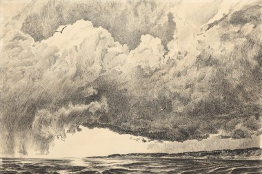 Ruyga R.K. The Ocean's Brother (the Enisey). 1963 pen and ink