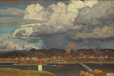 Sergin V.A. The City on the Enisey. 1974. oil on canvas